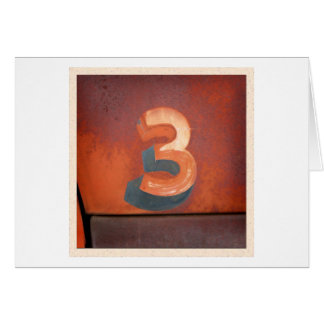 Number 3 Card