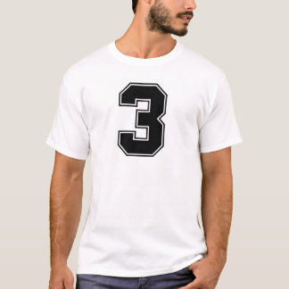 Number 3 front and backside print T-Shirt