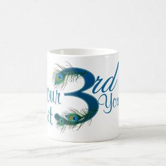 Number 3 or 3rd numeric design coffee mug
