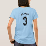 Number 3 Sports Jersey T-Shirt
