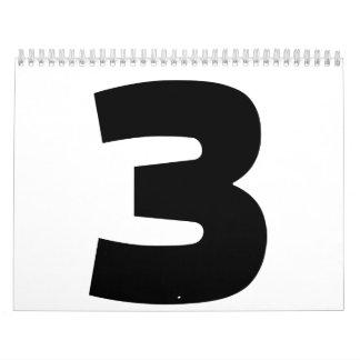 Number 3 three calendar