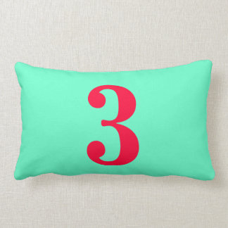 Number Three Pillows - Number Three Throw Pillows Zazzle