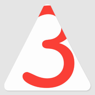 Number 3 triangle sticker