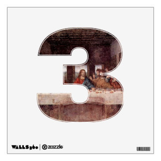 Number 3 Wall Decal - Numeral Three thenumeral3