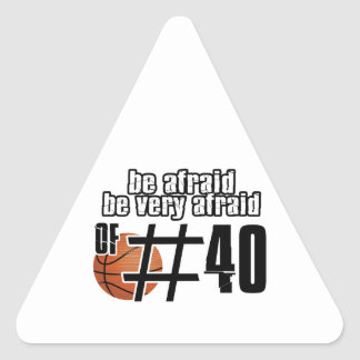Number 40 Basketball designs Triangle Stickers