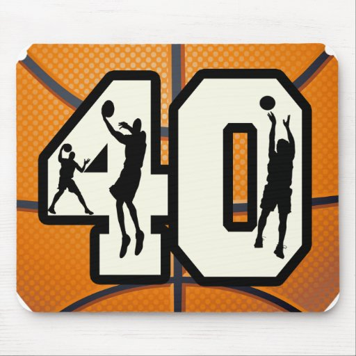 Number 40 Basketball Mouse Pad