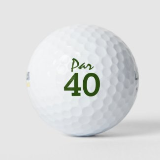 Number 40 par golf course for 40th birthday golfer golf balls