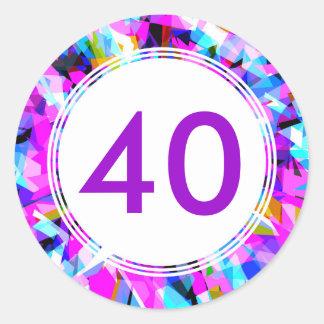 Number 40 - Round Sticker