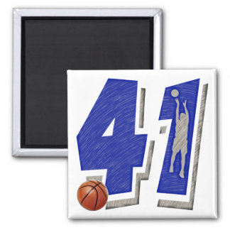 Number 41 Basketball and Player Magnet