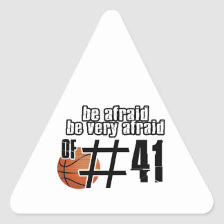 Number 41 Basketball designs Triangle Stickers