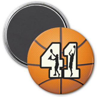 Number 41 Basketball Magnet