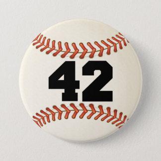 Number 42 Baseball Pinback Button