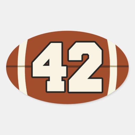 Number 42 Football Sticker | Zazzle