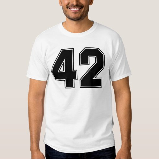 Number 42 front and backside print t shirt