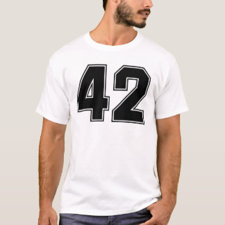 Number 42 front and backside print T-Shirt