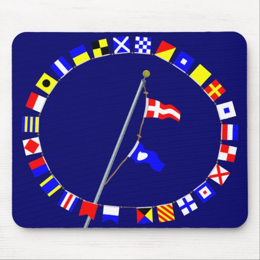 Number 42 Nautical Signal Flag Hoist Mouse Pad