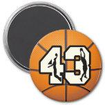 Number 43 Basketball Refrigerator Magnet