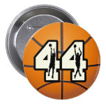 Number 44 Basketball Button