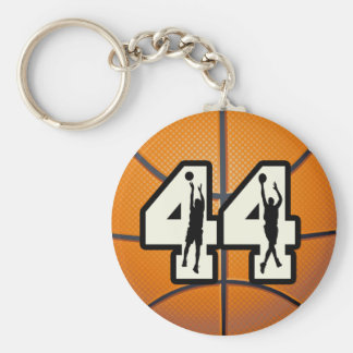 Number 44 Basketball Keychain
