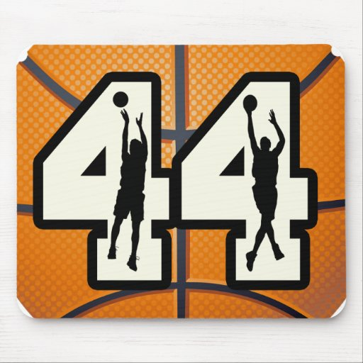 Number 44 Basketball Mouse Pad