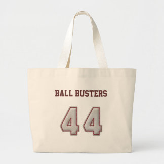 Number 44 with Cool Baseball Stitches Look Large Tote Bag
