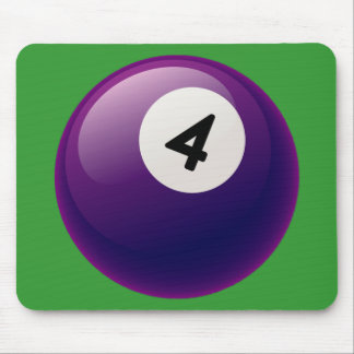NUMBER 4 BILLIARDS BALL MOUSE PAD