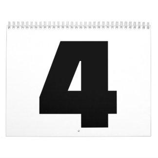 Number 4 four calendar