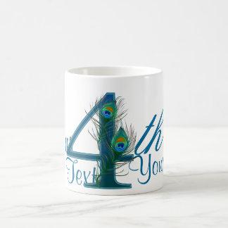 Number 4 or 4th numeric design mugs