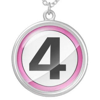 Number 4 pink necklace