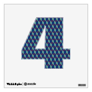 Number 4 Wall Decal - Numeral Four thenumeral4