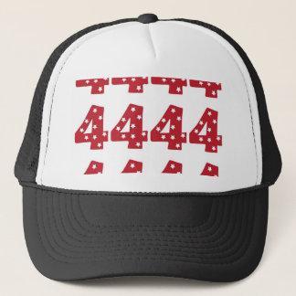 Number 4 - White Stars on Dark Red Trucker Hat