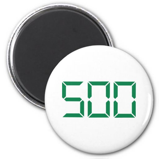 Number – 500 2 inch round magnet