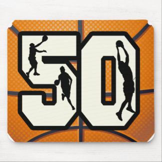 Number 50 Basketball Mouse Pad