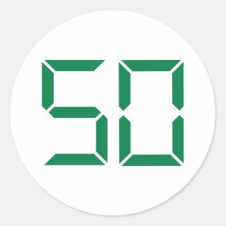 Number – 50 classic round sticker