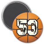 Number 53 Basketball Fridge Magnets