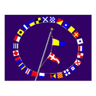 Number 54 Nautical Signal Flag Hoist Post Cards
