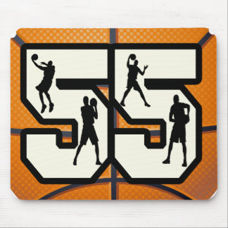 Number 55 Basketball Mouse Pad