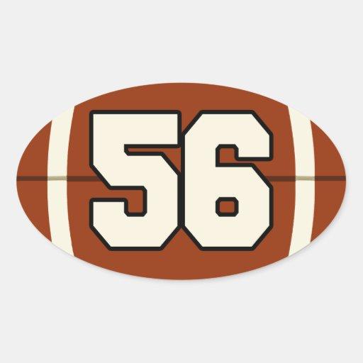 Number 56 Football Sticker | Zazzle