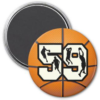 Number 59 Basketball Magnet