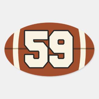 Number 59 Football Sticker