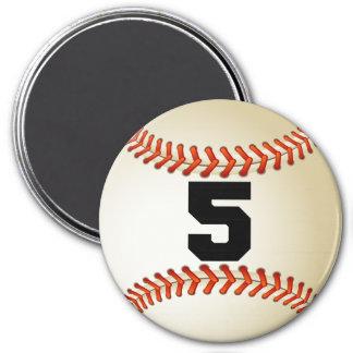 Number 5 Baseball Magnet