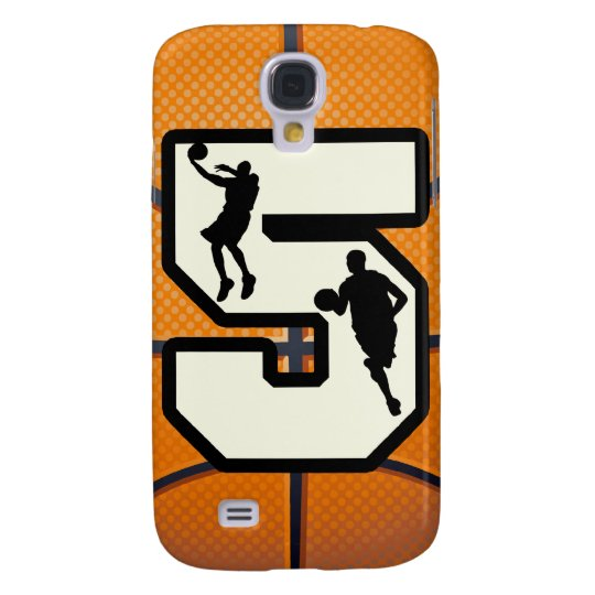 Number 5 Basketball and Player Samsung Galaxy S4 Cover