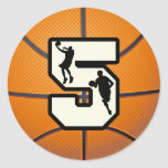 Number 5 Basketball and Player Stickers
