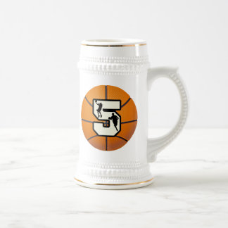 Number 5 Basketball and Players Beer Stein