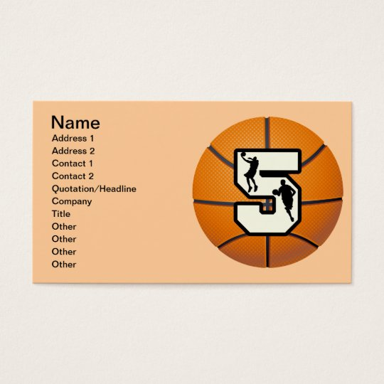 Number 5 Basketball and Players Business Card