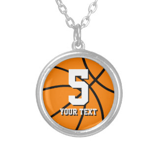 Number 5 basketball necklace | Personalizable