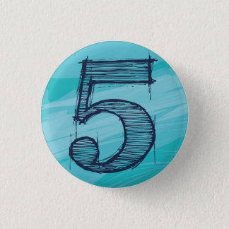 < Number >5 batches (color of the sea) Pinback Button