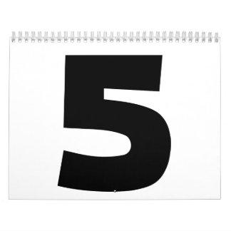 Number 5 five calendar
