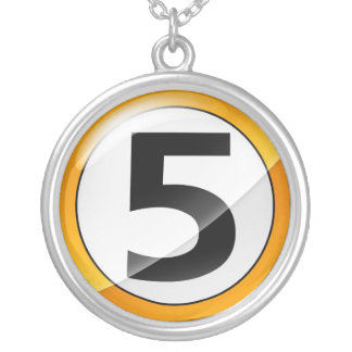 Number 5 gold necklace