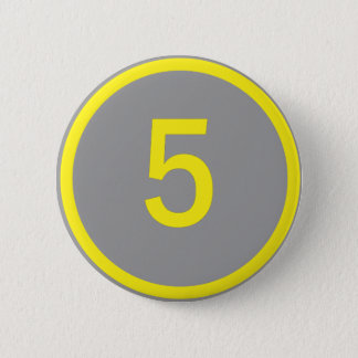 number 5 in a circle button